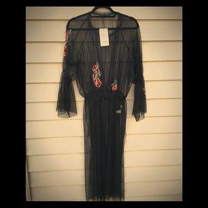 Sheer Zara tunic w/ embellishments